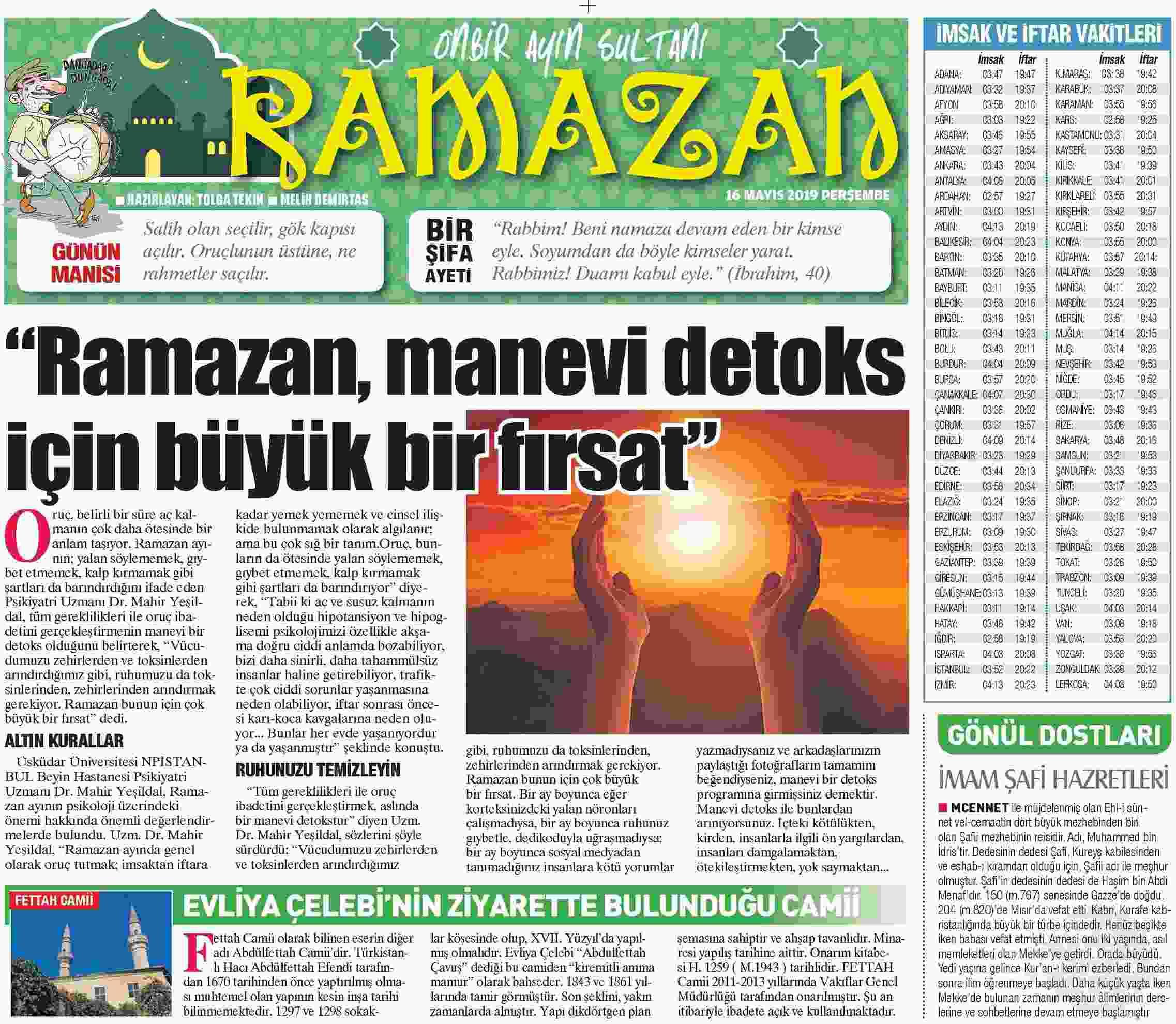 RAMAZAN, M İÇİN BÜYÜK BNPİRSAF