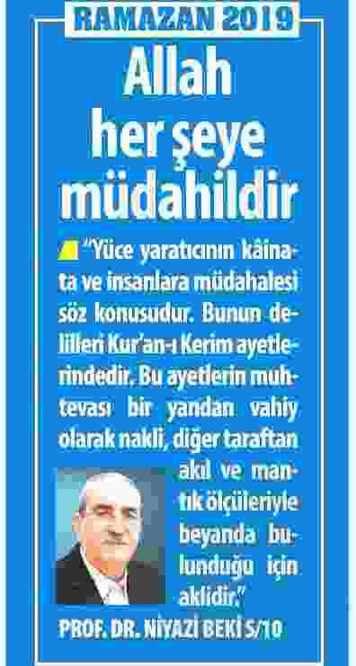ALLAH HERŞEYE MÜDAHİLDİR