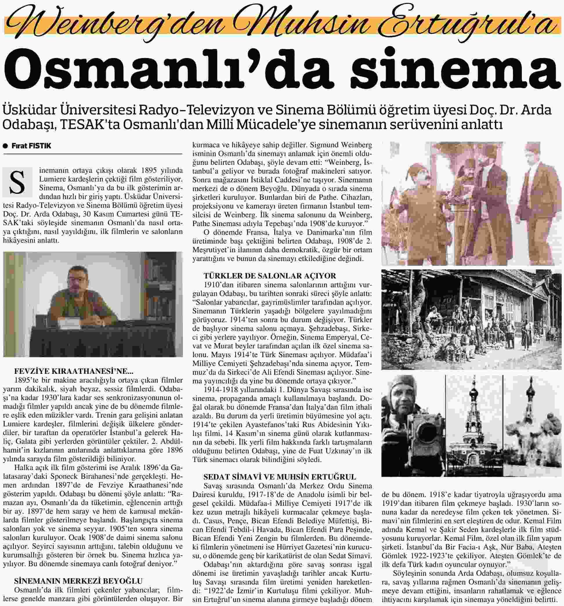 OSMANLIDA SİNEMA