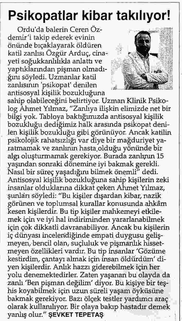 PSİKOPATLAR KİBAR TAKILIYOR!