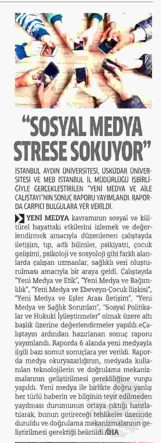 SOSYAL MEDYA STRESE SOKUYOR