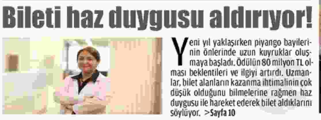 BİLETİ HAZ DUYGUSU ALDIRIYOR!