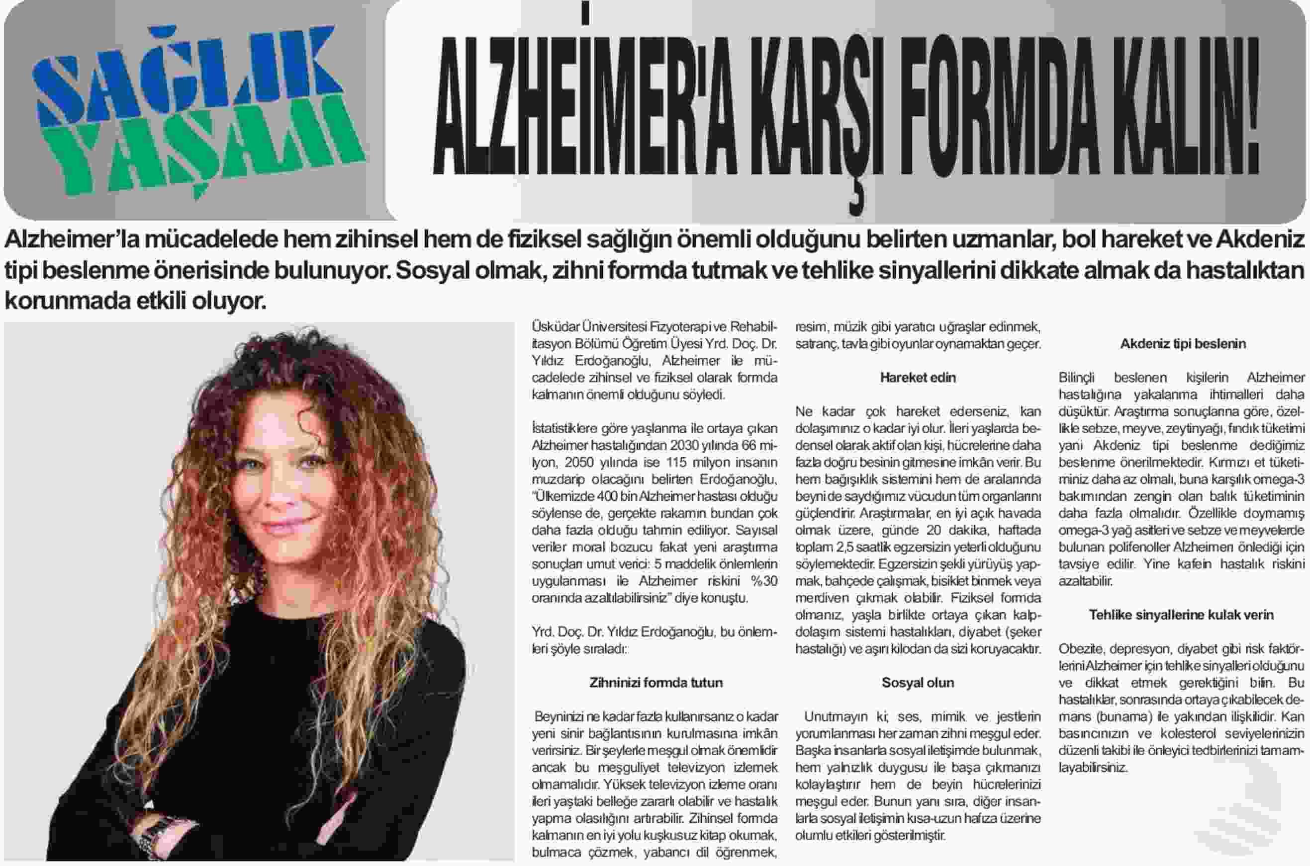 Alzheimer'a karşı formda kalın