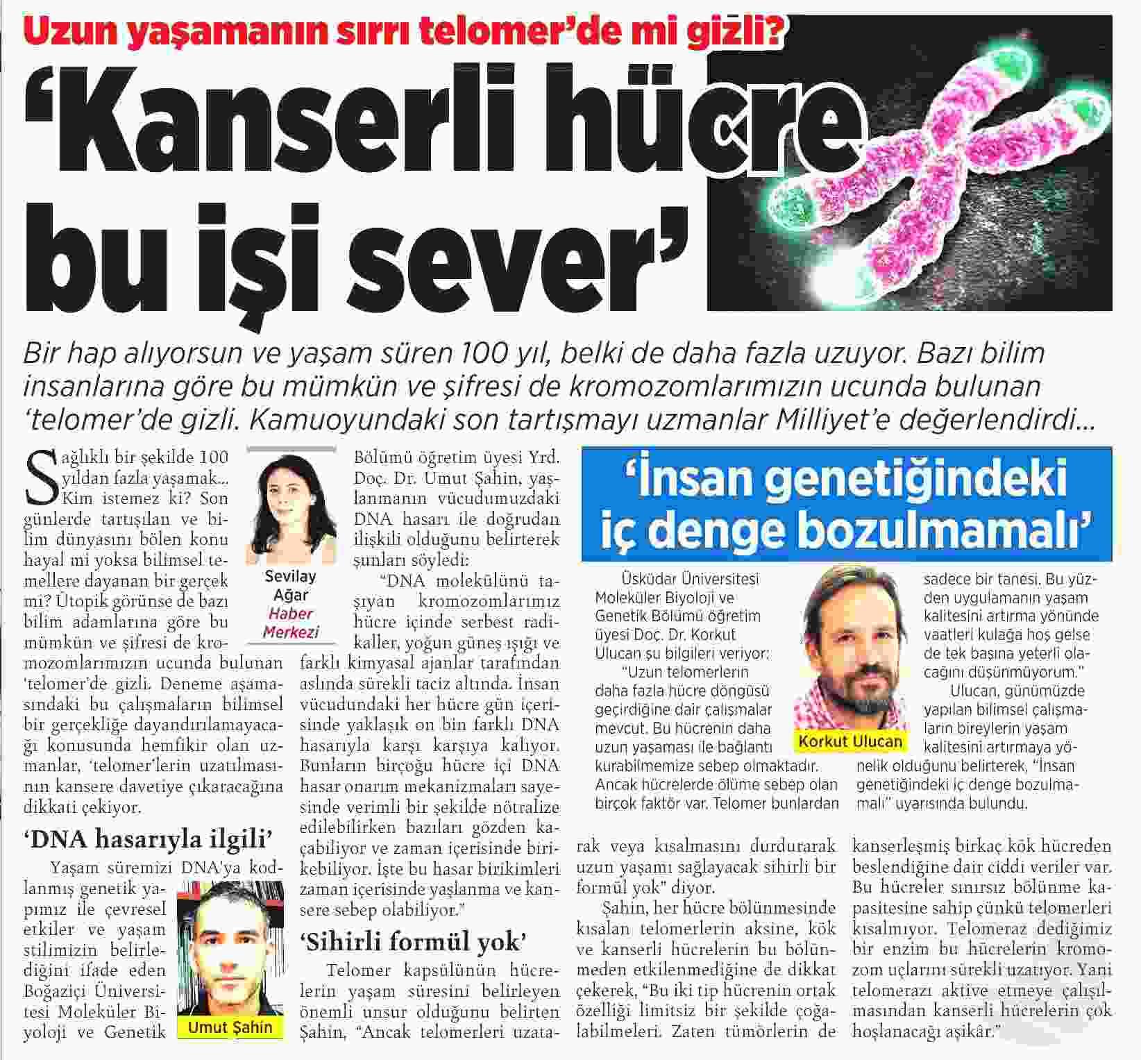 KANSERLİ HÜCRE BU İŞİ SEVER