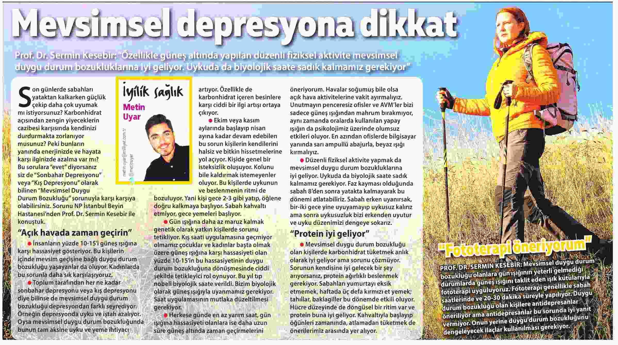 MEVSİMSEL DEPRESYONA DİKKAT