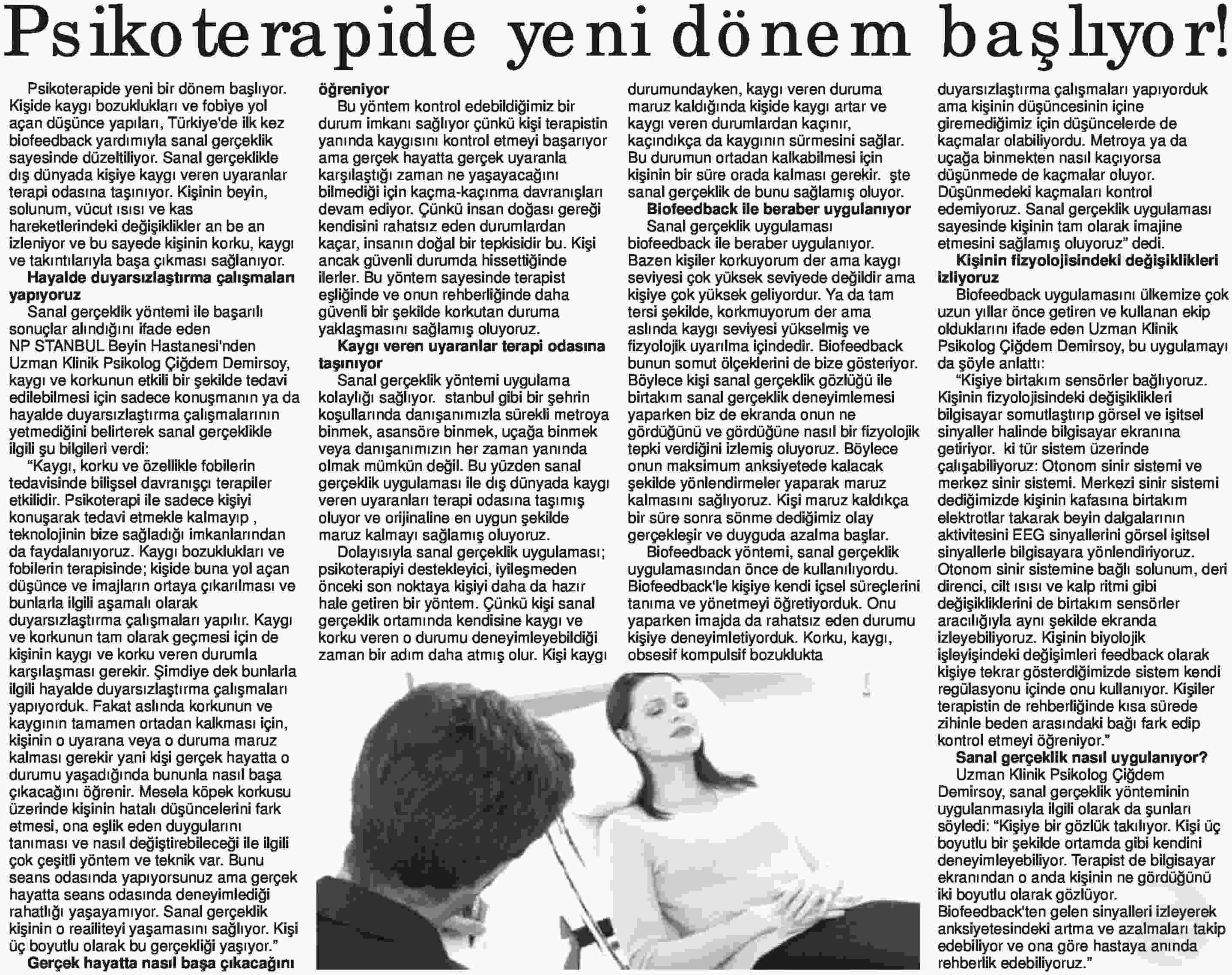 PSİKOTERAPİDE YENİ DÖNEM BAŞLIYOR!
