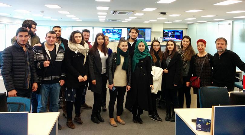 İletişim öğrencileri Anadolu Ajansı'nı ziyaret etti
