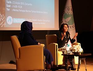 Mütefekkir yazar Sâmiha AyverdiÜsküdar Üniversitesi'nde konuşuldu… 2