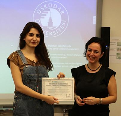 Üsküdar Üniversitesi'nde sertifika töreni 2