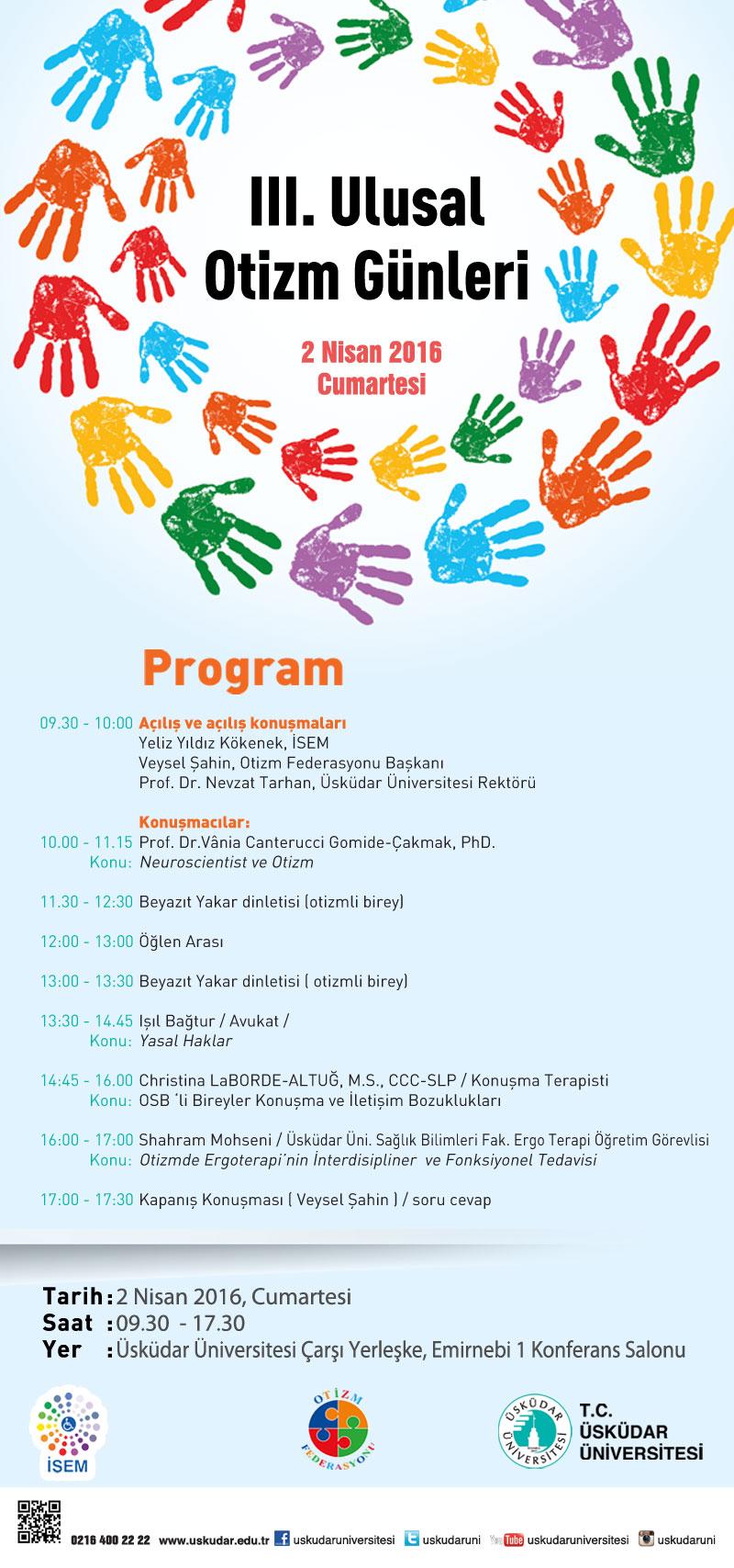 3. Ulusal Otizm Günleri Üsküdar Üniversitesi'nde düzenleniyor!