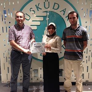 Litvanya'dan ERASMUS+ öğrencisi Dilan Tanış sertifikasını aldı