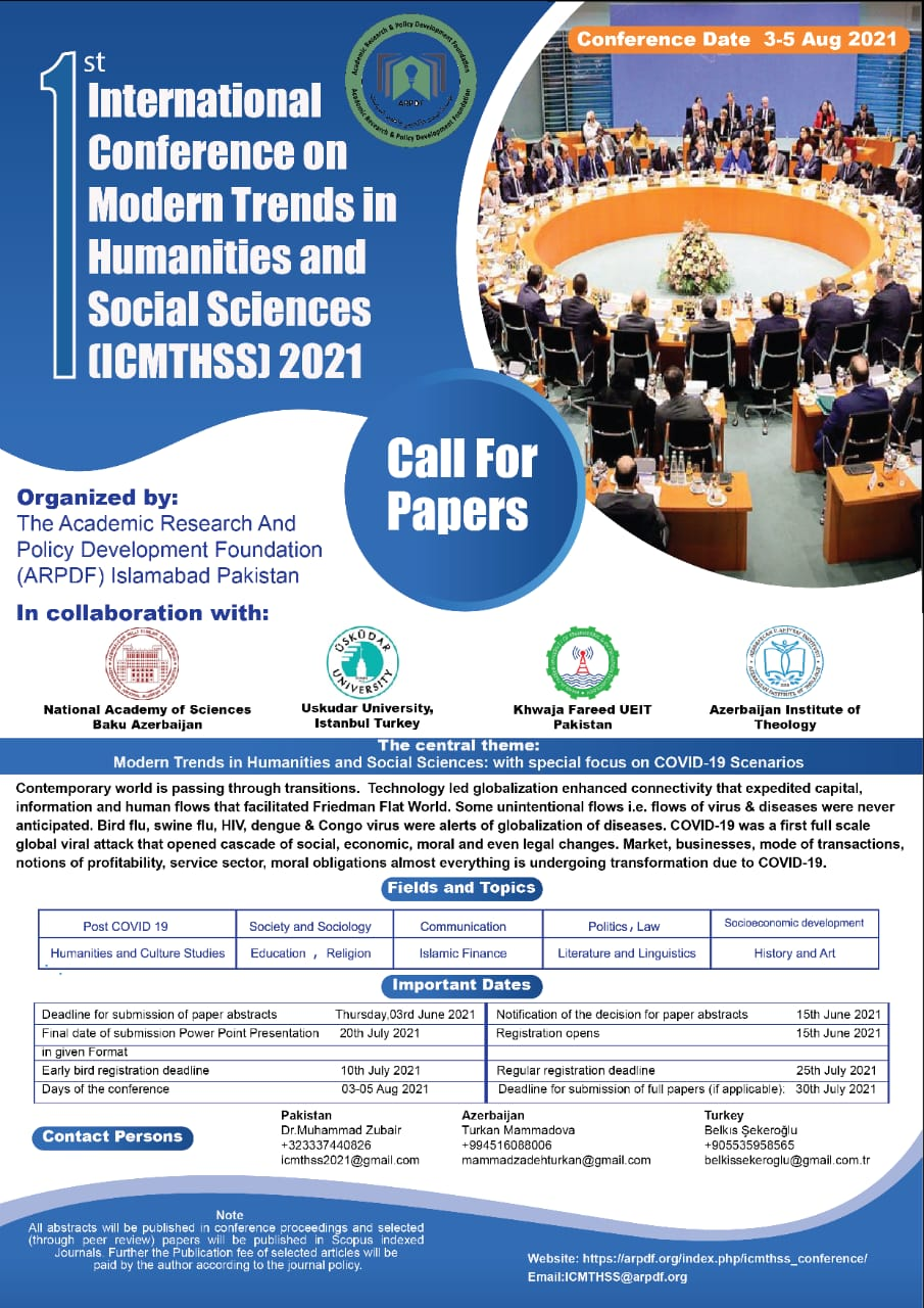 International Conference on Modern Trends in Humanitîes and Social Sciences