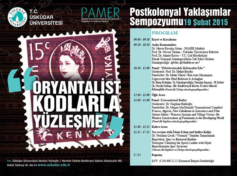 Üsküdar Üniversitesi'nde Postkolonyal Yaklaşımlar Sempozyumu düzenlenecek 2